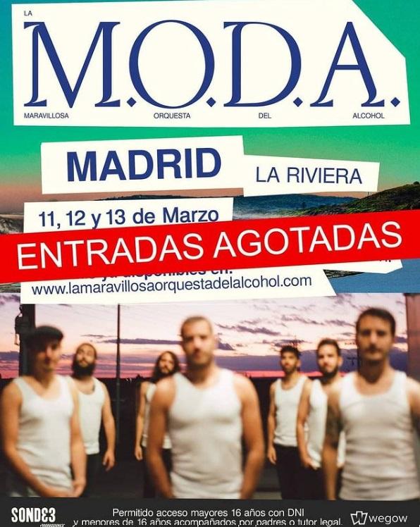 La MODA agota entradas en Madrid
