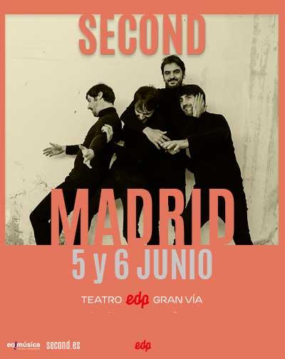 Concierto Second en concierto en Madrid