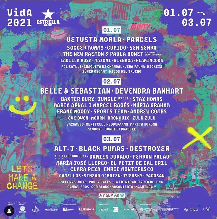 Cartel por días Vida Festival 2021