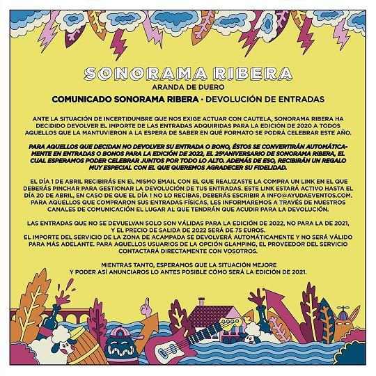 Cancelado Sonorama Ribera 2021