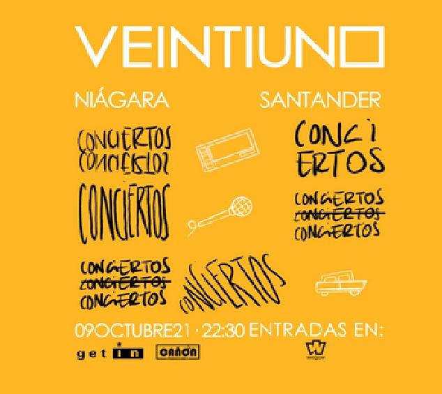 Veintiuno Concierto Santander 9 de octubre 2021