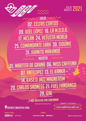 Cádiz también contará con un ciclo de conciertos este verano gracias a Música del Mar