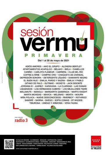 Cartel completo de la 'Sesión Vermú' de la Comunidad de Madrid