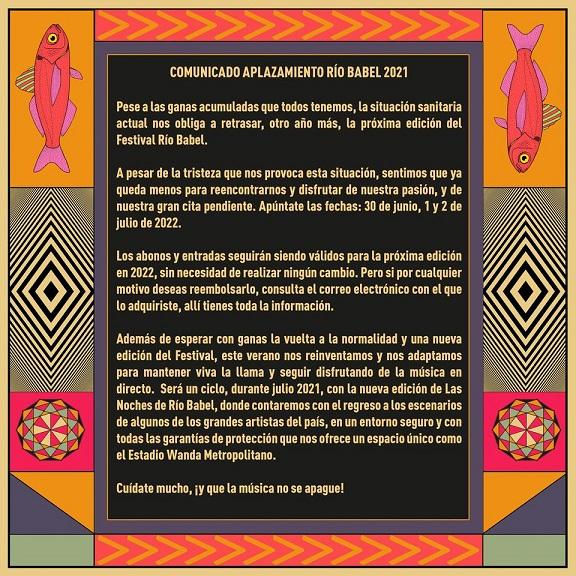 Cancelado Rio Babel 2021