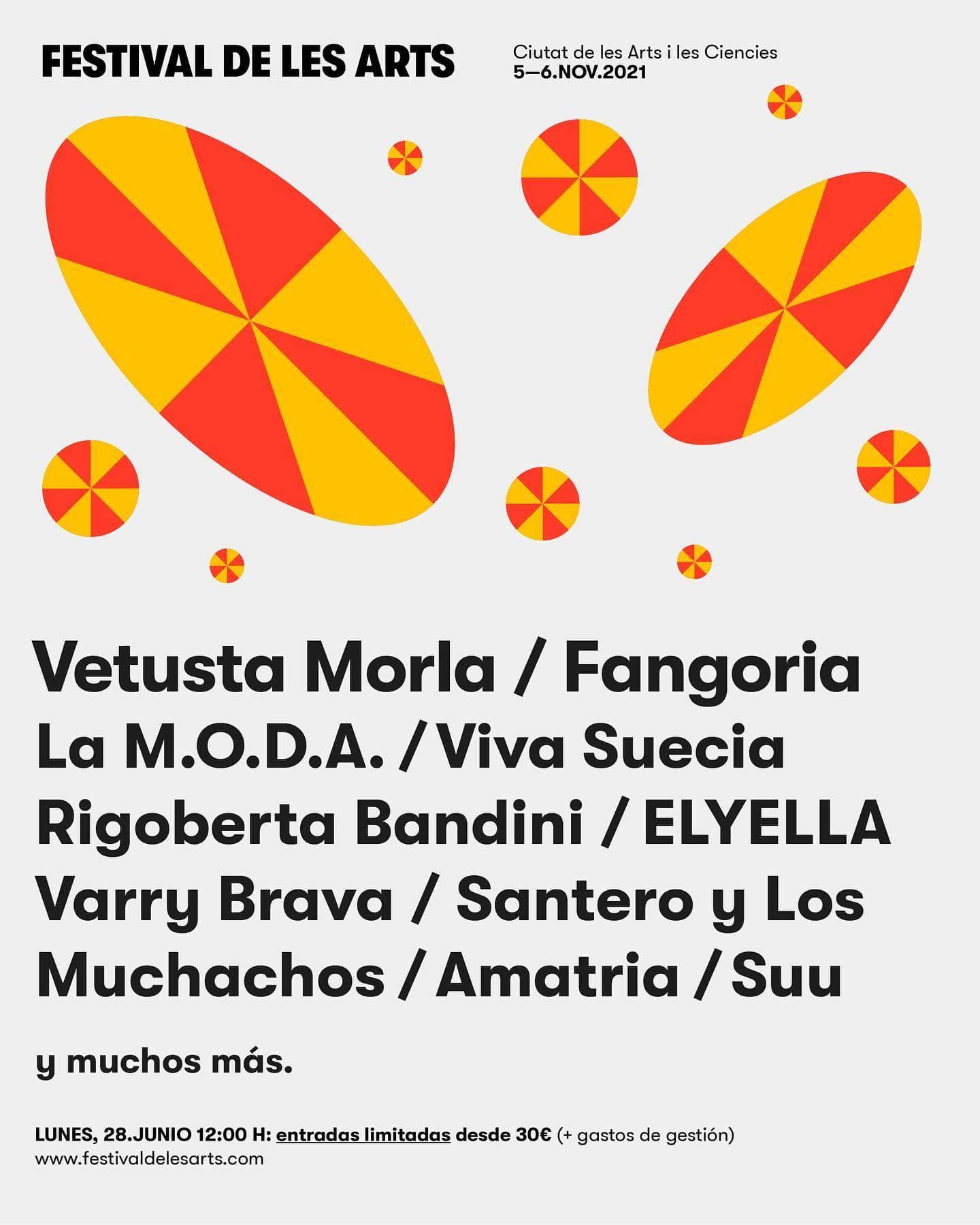 Festival de les Arts 2021 primer avance cartel