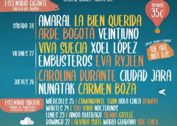 Cartel por días del Festival Gigante 2021