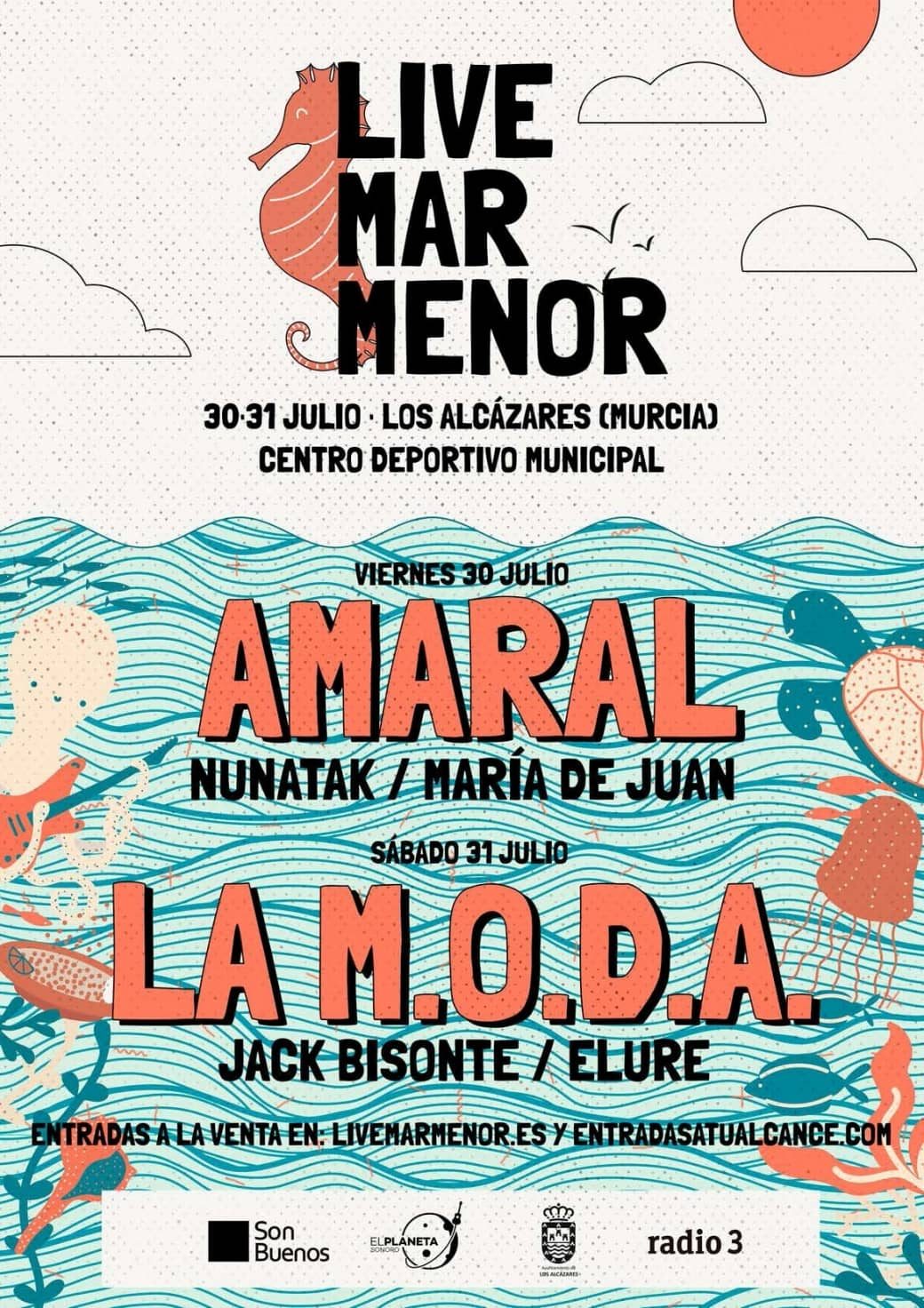 Live Mar Menor 2021 cartel