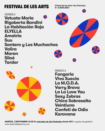 El Festival de Les Arts 2021 cierra su cartel